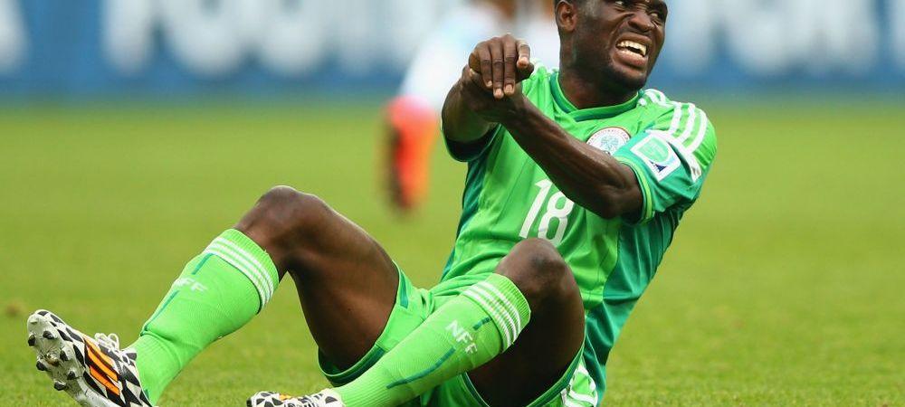 Cel mai ghinionist fotbalist de la Mondial! Un nigerian va rata restul turneului final din cauza unui coleg:
