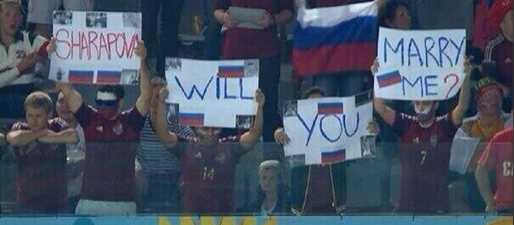 Faza serii la meciul Rusiei! Cum a raspuns Sharapova dupa ce a vazut aceasta imagine la TV: