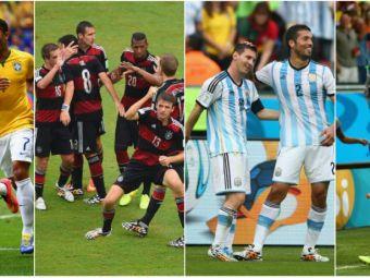 """Brazilia, Columbia, Germania si Franta, pe jumatatea """"NEBUNA"""" de tablou, Argentina si Olanda au drum mai usor catre finala!"""