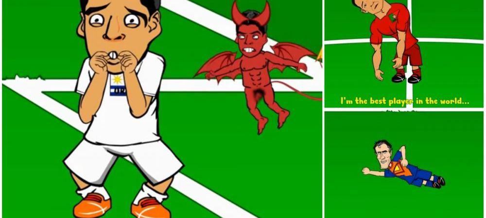 De la zborul lui Van Persie si umilinta Portugaliei pana la muscatura lui Suarez! Rezumatul grupelor intr-un desen animat! VIDEO: