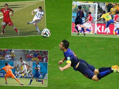 VIDEO Spectacol TOTAL in Brazilia! Care a fost cel mai tare gol de pana acum? Vezi cine se lupta cu Van Persie: