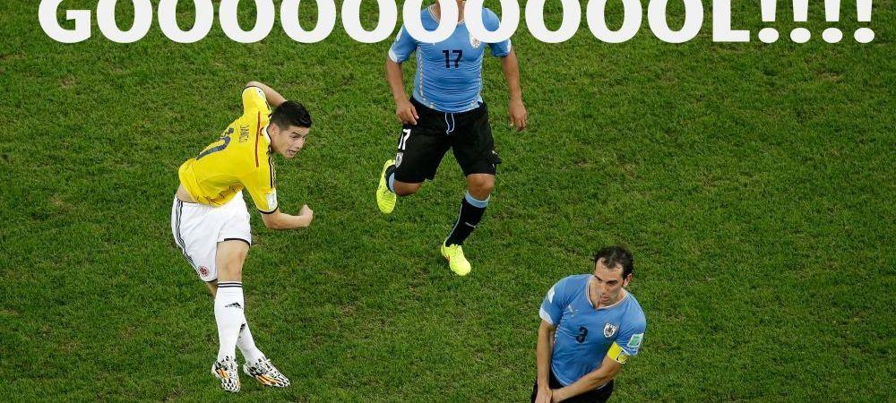 Ti se face pielea de gaina! Cum au reactionat comentatorii columbieni la golul MONDIAL al lui James Rodriguez! VIDEO