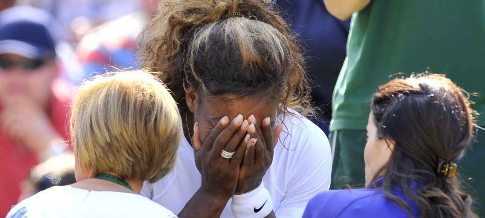 Prima imagine cu Serena Williams dupa scenele incredibile de la Wimbledon, in care a fost obligata sa abandoneze. FOTO