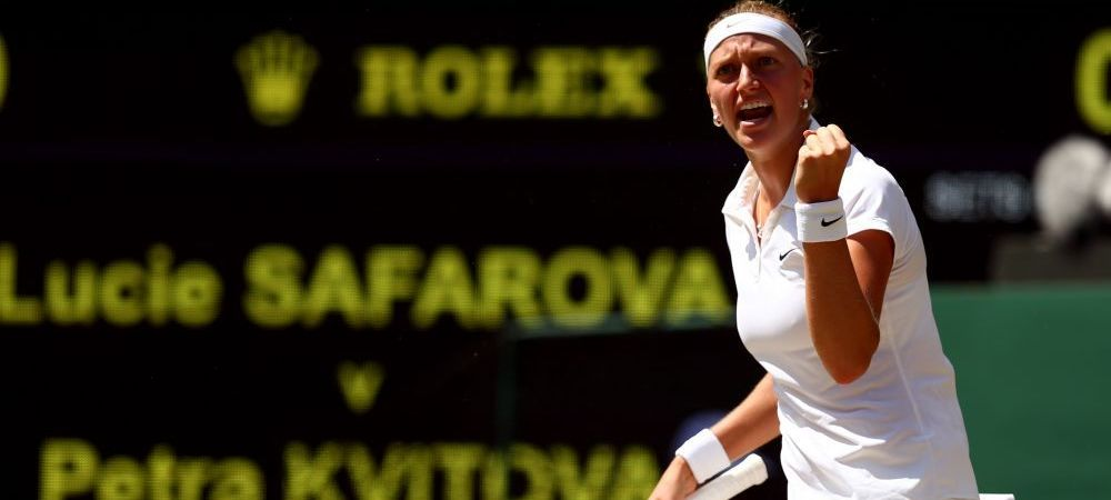 "Kvitova, prima reactie dupa ce s-a calificat in finala la Wimbledon. Avantaj fata de toate celelalte semifinaliste: ""Stiu cum e"""