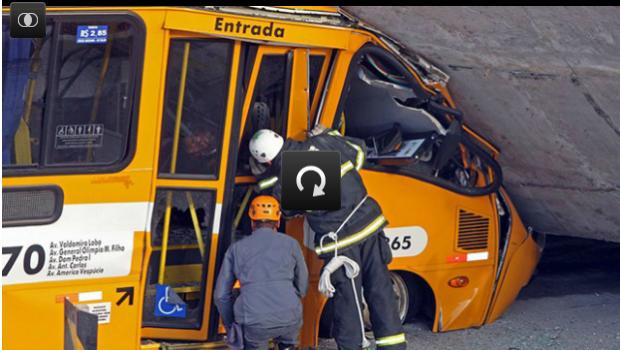 VIDEO: Tragedie in Brazilia! Un pod de langa stadionul din Belo Horizonte s-a prabusit, sunt doi morti si 22 de raniti