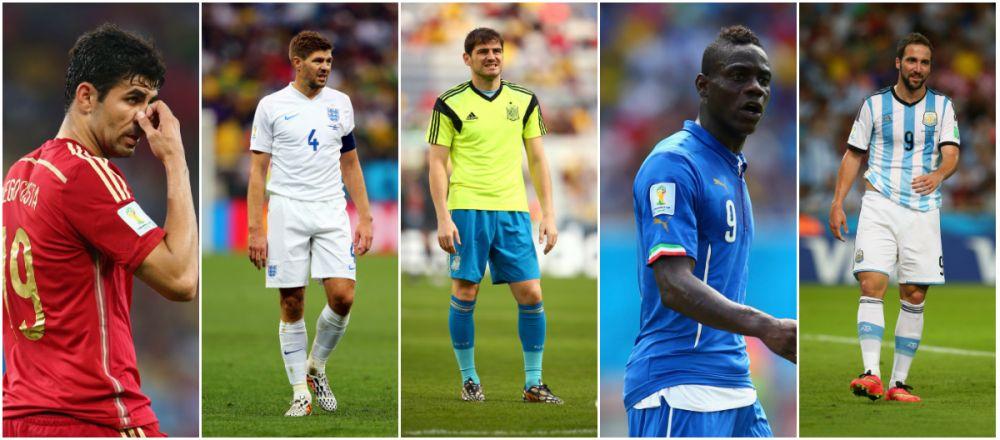 """Cele mai mari """"TEPE"""" de la Mondial! Englezii au facut TOP 5 fotbalisti care au dezamagit, unul dintre ei e inca la turneul final"""