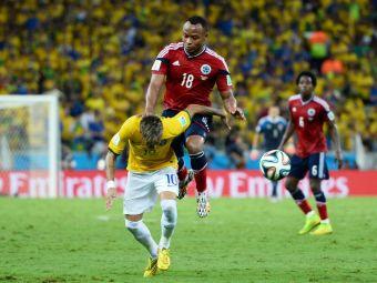"""Prima reactie a lui Zuniga, dupa ce l-a accidentat pe Neymar: """"N-a fost intentionat, sper sa fie ok! Si colegii mei au patit asta"""""""