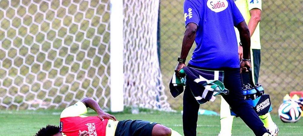 Brazilienii se simt BLESTEMATI! Inlocuitorul lui Neymar s-a accidentat la antrenamentul de aseara! Ce probleme are Scolari