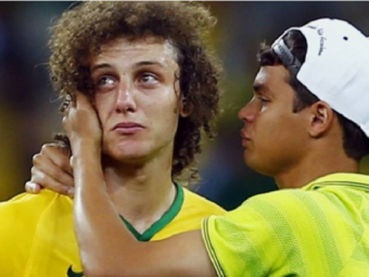 """David Luiz a inceput sa planga: """"Cer iertare poporului brazilian!"""" Cum se deschid publicatiile din Brazilia si Germania:"""