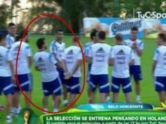 Moment senzational la antrenamentul Argentinei! Ce a facut Lavezzi cand selectionerul Sabella s-a intors cu spatele