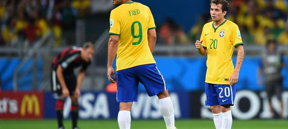 Pele, Zico si urmasul Barney. Sau Fred?! Umilinta TOTALA pentru titularul Braziliei, in prima repriza a meciului cu Germania
