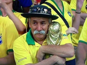 FOTO   Gestul SUPERB al fanului brazilian care face inconjurul internetului! Ce a facut la finalul partidei cu Germania: