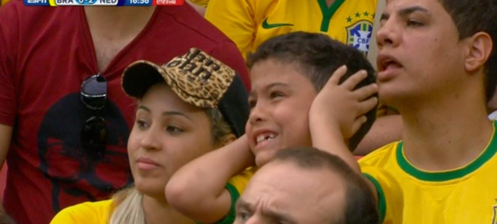 Cineva sa OPREASCA dezastrul asta! Imaginea meciului la Brazilia - Olanda! Nu a mai suportat sa-si vada nationala distrusa
