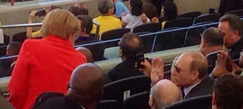 Cum au fost surprinsi in tribuna la finala Mondialului Merkel si Vladimir Putin. Au intors toate privirile. FOTO