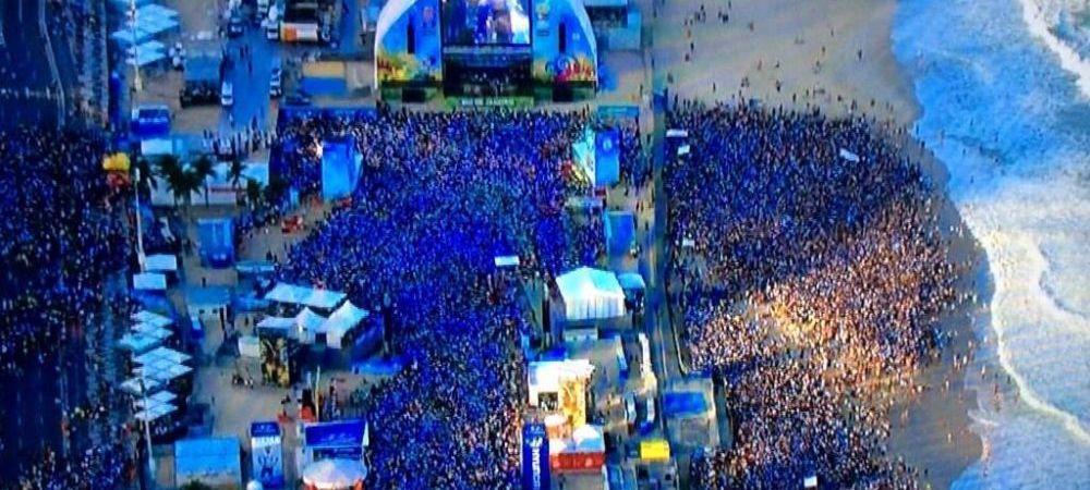 Copacabana nu a aratat niciodata asa! Imagini fantastice de pe cea mai spectaculoasa plaja din lume la finala Mondialului. FOTO