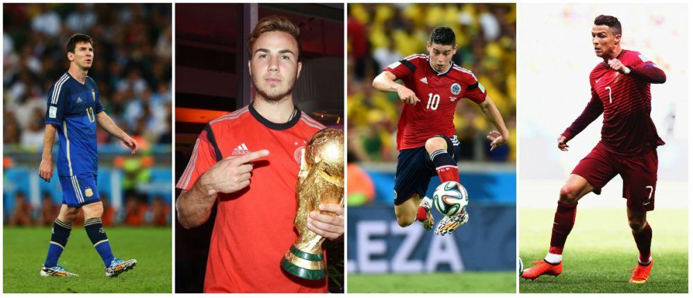 Cei mai valorosi 50 de jucatori ai lumii dupa Mondial! Messi e lider, Ronaldo si-a pastrat locul 2! James a urcat 18 locuri