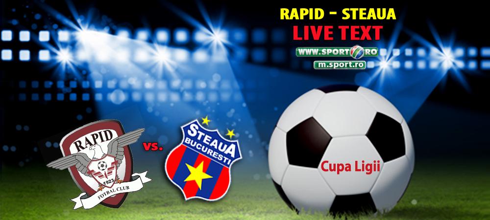 Rapid 1-2 Steaua, in Cupa Ligii! Keseru si juniorii Stelei se califica in sferturi dupa o victorie la limita!