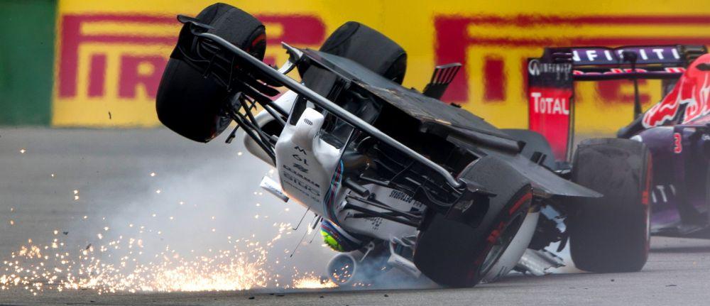 Moment teribil in MP al Germaniei: Massa s-a rasturnat cu bolidul si a fost la un pas de tragedie! Vezi imagini: