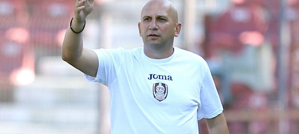 """CFR, eliminata din Cupa Ligii, Miriuta a bagat rezervele: """"Pe mine ma intereseaza meciul cu Jagodina"""""""