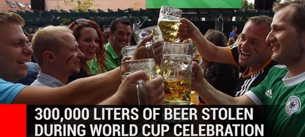 Hotii au furat 300.000 litri de bere in timp ce toata Germania sarbatorea titlul mondial! Dupa cat timp a fost sesizat jaful :)