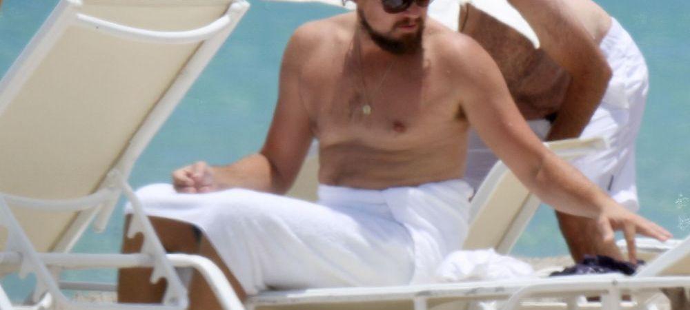 Aparitie neasteptata a lui Leonardo DiCaprio pe o plaja din Miami! Ce secret rusinos ascunde sub haine