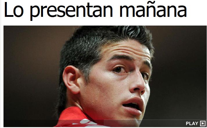 Transferul lui James Rodriguez s-a rezolvat! Real Madrid va face anuntul oficial astazi, jucatorul va fi prezentat maine