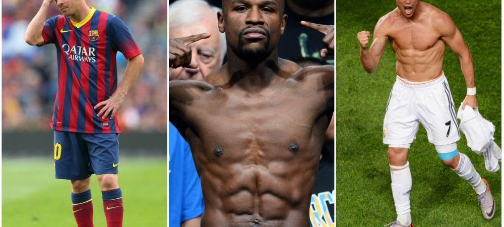 Ronaldo si Messi, singuri fotbalisti in topul celor mai bine platiti sportivi din lume! Locul 1 ii revine unui boxer