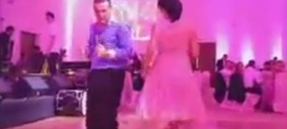 Mai tii minte dansul fabulos al lui Gigi Becali? Un fotbalist a reusit sa-l depaseasca. Ce a facut la propria sa nunta :) VIDEO