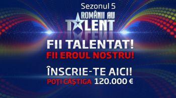 """Incep inscrierile pentru """"Romanii au talent"""", cel mai iubit show al romanilor!"""