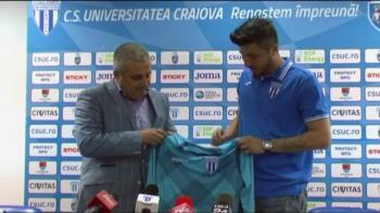 """""""La Steaua nu voi juca niciodata!"""" Promisiunea facuta de Balgradean dupa ce a fost prezentat oficial la CSU Craiova"""