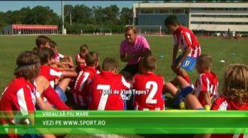 VIDEO Atletico Madrid ii cauta pe urmasii lui Falcao, Torres si Costa in Romania! Meci cu Besiktas pentru micutii jucatori