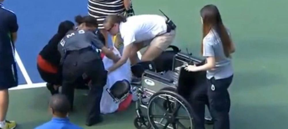 """I don't want to quit, please, I don't want to quit!"" Scene SOCANTE la US Open: a fost nevoie de caruciorul cu rotile! VIDEO"