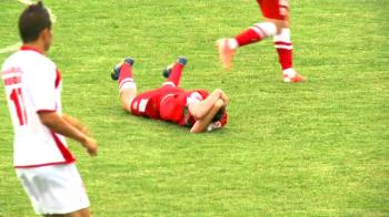 Meci cu scandal la Dinamo 2. Bratu si-a iesit din minti pe banca, dupa ce a vazut ce a patit un jucator! VIDEO