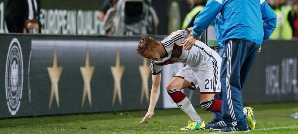 "FAZA nebuna in preliminariile EURO! ""Ce fac aia acolo?!"" Ce s-a intamplat, de fapt, la accidentarea lui Marco Reus! VIDEO"