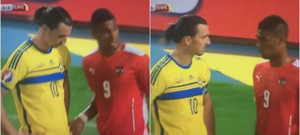 Gluma, gluma, dar mai usor cu tupeul :)) Reactia lui Ibrahimovic cand Alaba s-a impins in el inainte de corner! VIDEO