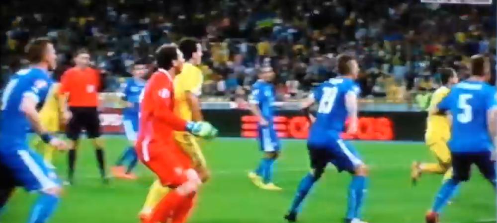 Portarul Ucrainei a facut FAZA SERII! A dat golul de 1-1 in min 93, insa arbitrul i-a anulat reusita pentru fault la portar! VIDEO
