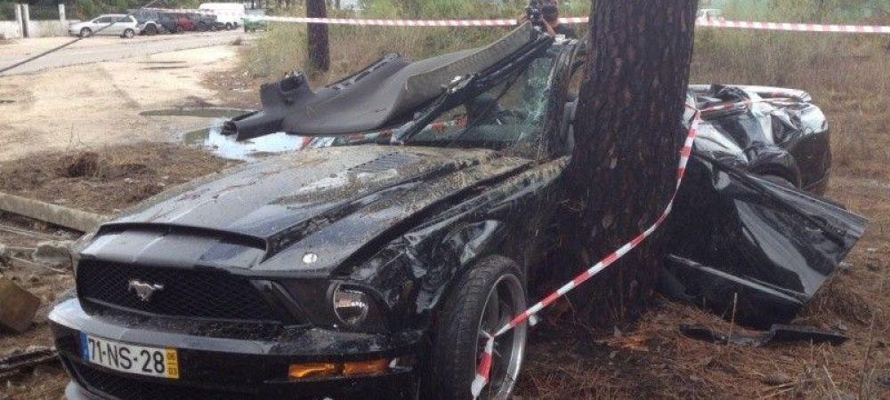 A facut-o JARa! Un fotbalist de la Benfica, implicat intr-un accident groaznic! Cum a facut praf un Mustang de zeci de mii de euro