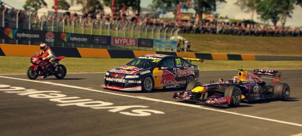 Nebunie totala la Top Gear! O motocicleta vs o masina de Formula 1 vs un supercar! Finalul a fost incredibil de strans :)