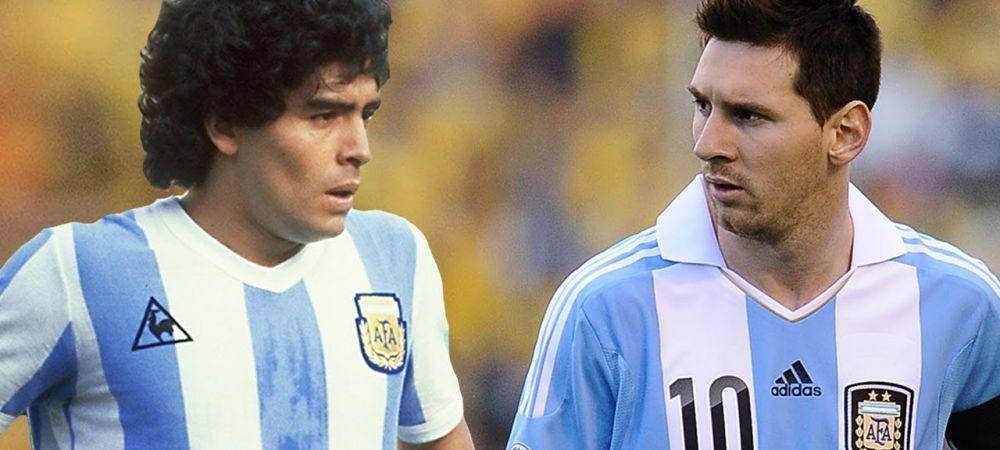 """Sa-l compari pe Messi cu Maradona? O GLUMA!"" Un atacant urias caracterizeaza ca ""ridicola"" comparatia"