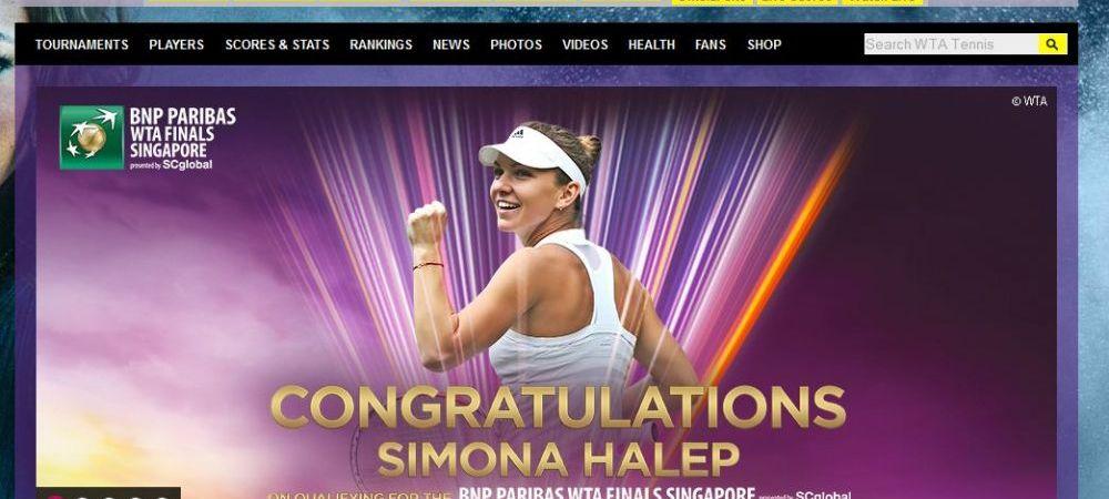 """""""Rising STAR Simona Halep!"""" Descriere superba pentru Simona Halep pe site-ul WTA! Cum se deschide pagina in aceasta dimineata:"""