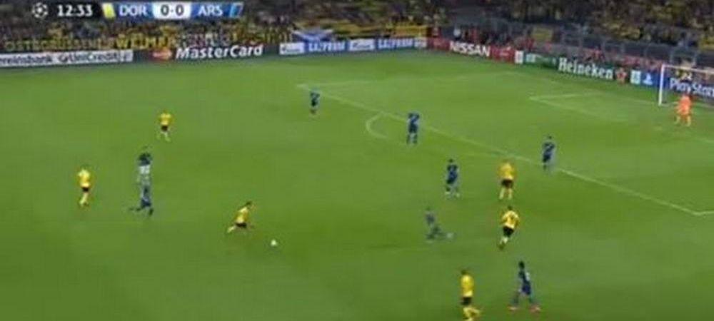 IMAGINEA SERII in Champions League! Arsenal a jucat cu 12 oameni la Dortmund! Faza care i-a bulversat pe nemti