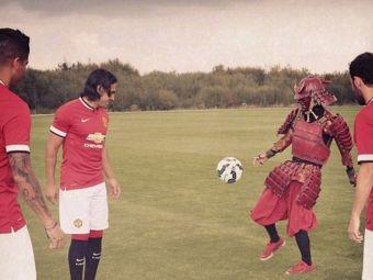 Cine e noul SAMURAI de la Manchester United? Super jongleriile inventate de Falcao cu el. VIDEO