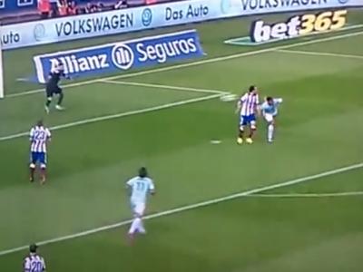 Atletico, ucisa de un GOLAZO ca la FIFA 15! Mingea parea sa se duca aiurea, Pablo Hernandez a marcat cu lovitura scorpionului