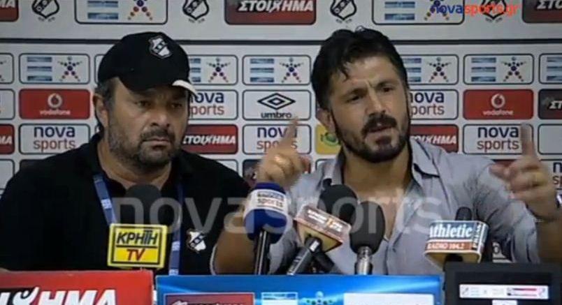 "SPECTACOL total la conferinta de presa a lui Gattuso! ""Le-am spus jucatorilor sa aiba c***e! Nu merg sa PLANG ca nu sunt bani!"""