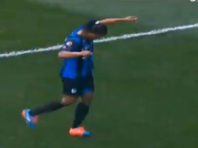 Ronaldinho a declansat nebunia in Mexic: a dat primul gol si a inceput sa danseze Samba. VIDEO