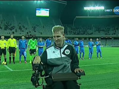 Imagini senzationale: Nesu a venit sa vada meciul U Cluj - CSU Craiova! CEL MAI TARE moment al etapei. Ce s-a intamplat pe teren