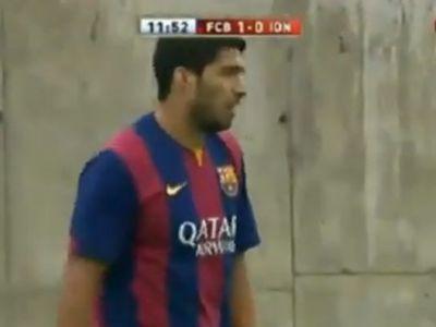 Primul gol marcat de Luis Suarez pentru Barcelona! Gheata de Aur din sezonul trecut a spart gheata VIDEO