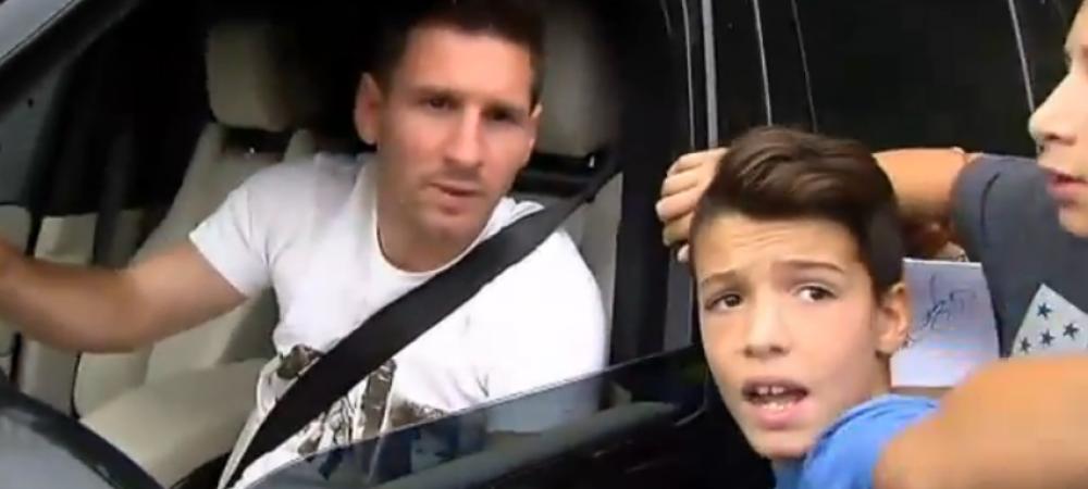 """""""Messi, Messi, te rog eu, facem o poza? Te rog! Te iubesc! Messi! MESSI TE IUBESC"""" Reactia acestui copil dupa ce face poza! VIDEO"""