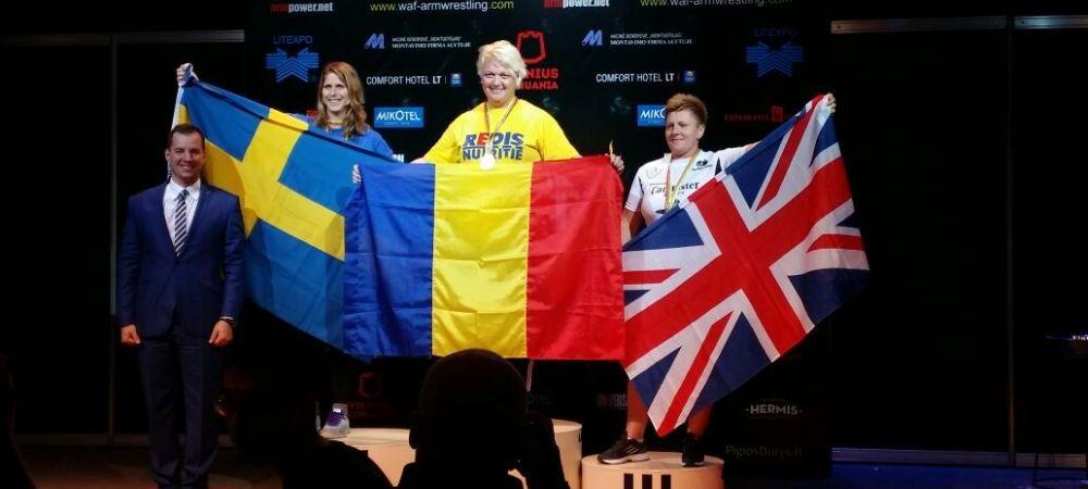 O romanca, intre cele mai puternice femei din lume! Mirela Parjol, campioana mondiala la skandenberg, la Vilnius: FOTO