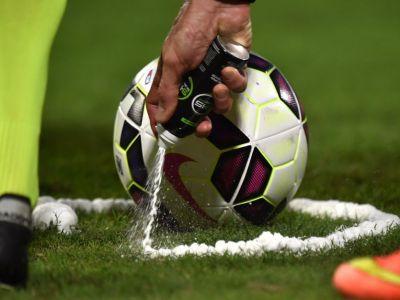 """Adevarul despre spray-ul folosit in fotbal! Motivul pentru care nemtii nu il vor deocamdata: """"Este interzis in Germania si UE"""""""